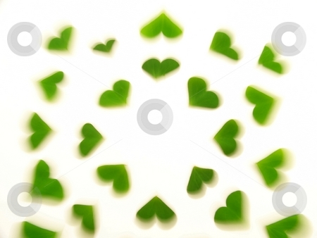 Blurred Clover Hearts stock photo, Image of a heart pattern created by clover leaves. by Jill Oliver