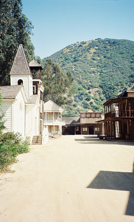 Ghost Town stock photo, Western ghost town by Marburg