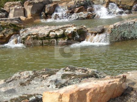 Rocks  stock photo, Water flowing over rocks by Marburg