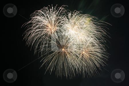 Koosh ball fireworks stock photo, Koosh ball fireworks against the dark sky by Jonas Marcos San Luis