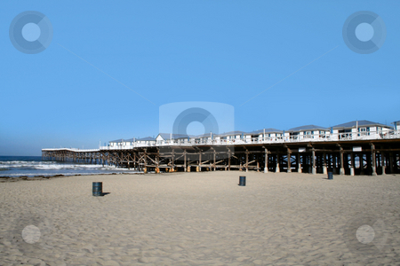 Beach pier stock photo,  by Greg Peterson