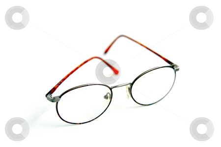 Eyeglasses stock photo, Eyeglasses on white background by Elena Elisseeva