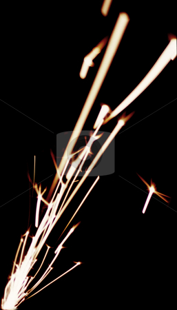 Grinding sparks stock photo, White hot sparks from a grinding wheel by Stephen Gibson