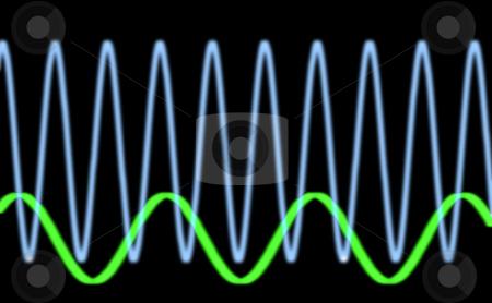 Sinusiodal waveform stock photo, Sine waves oscilloscope by Stephen Gibson