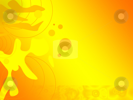 Bright orange digital background - abstract illustration stock photo, Bright orange digital background - abstract illustration by Marko Vesel
