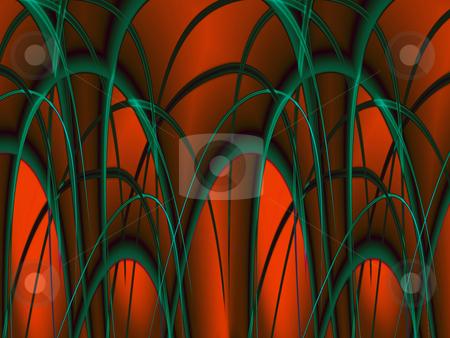 Glowing red arcs - digital illustration stock photo, Glowing red arcs - digital illustration by Marko Vesel