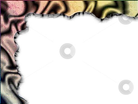 Bronze web frame - digital abstract border stock photo,  by Marko Vesel