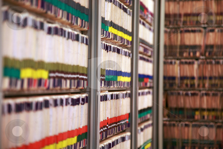 Medical records stock photo, The medical records at a doctor's office - very narrow DOF by Mitch Aunger