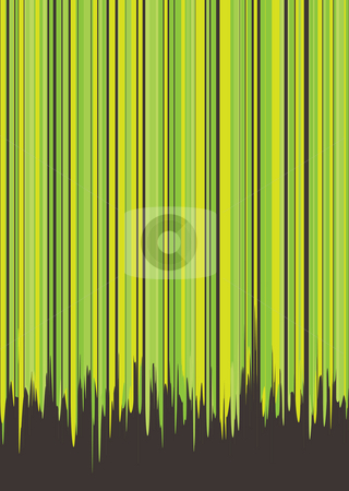 Dribble green stock photo, Abstract green and grey background with vertical stripes by Michael Travers