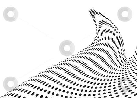 Tall wave stock photo, Wave illustration made out of an abstract design of circles by Michael Travers