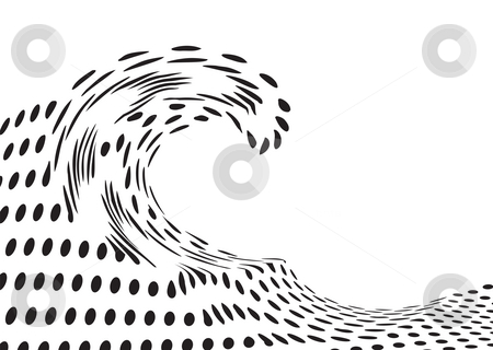 Distorted wave stock photo, Abstract wave design made out of distorted circles by Michael Travers