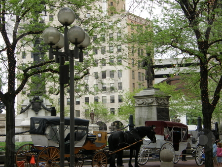 Downtown Indianapolis stock photo, Downtown Indianapolis in Indiana by Ritu Jethani