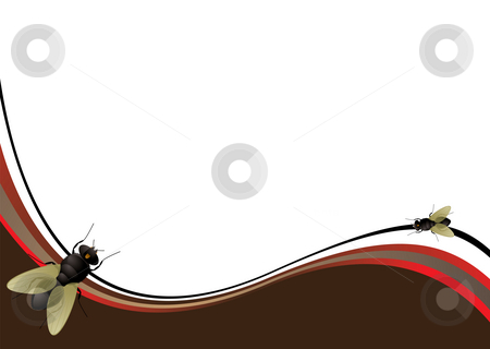 Fly wave stock photo, Abstract brown background with a surprise laid on top by Michael Travers