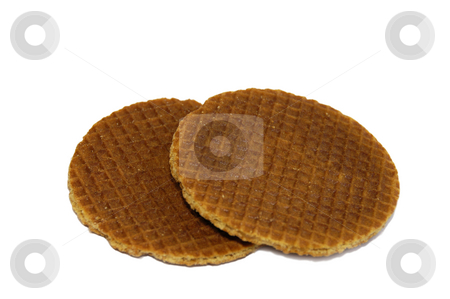 Treacle waffle stock photo, Treacle waffles on an isolated background by Claudia Van Dijk