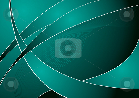 Jade swish stock photo, Abstract green and black background with copy space by Michael Travers