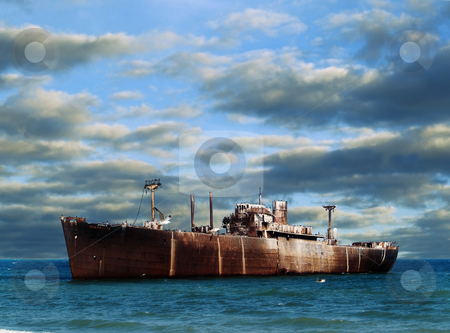 Ship wreck stock photo, Ship wreck in the Black Sea by Adrian Costea