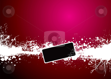 Crimson banner stock photo, Grunge style illustration in crimson and white with copy space by Michael Travers