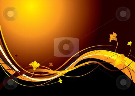 Abstract floral sunset stock photo, Floral inspired background with room to add your own text by Michael Travers