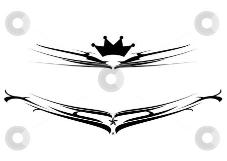 Black shield logo stock photo, Black and white gothic style shield logo illustration by Michael Travers