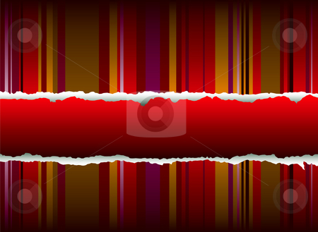 Hot rip stock photo, Vertical stripes in red that would make an ideal background with a rip by Michael Travers