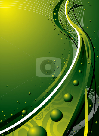 Natural green stock photo, Abstract green flowing design ideal as a background or desktop by Michael Travers