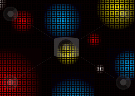 Disco balls colour stock photo, Abstract colourful background with disco ball shape pattern by Michael Travers