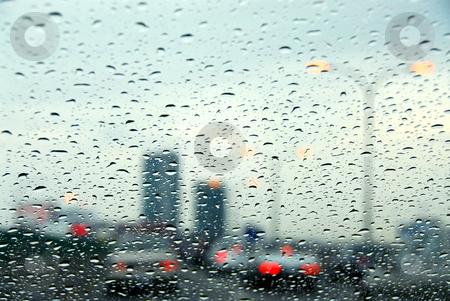 Traffic rainy day stock photo, Traffic on a rainy day by Elena Elisseeva