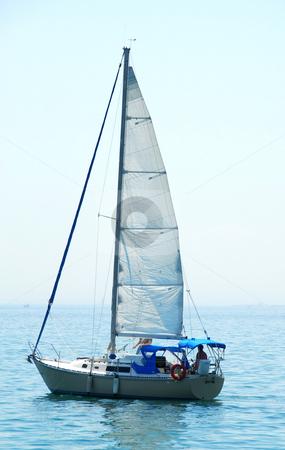 Sailboat stock photo, Sailboat close up by Elena Elisseeva
