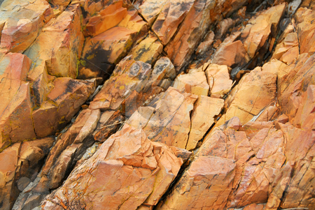 Rock surface stock photo, Natural weathered rock texture by Elena Elisseeva