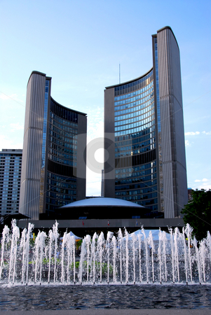 Toronto city hall stock photo, Nathan Phillips square in downtown Toronto Canada by Elena Elisseeva