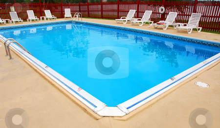 Swimming pool stock photo, Empty swimming pool by Elena Elisseeva