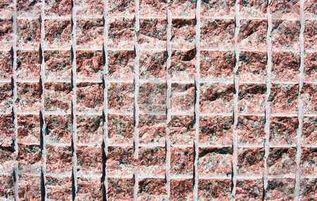 Pink Granite Texture stock photo, A pink granite texture that was cut into squares by Kevin Tietz