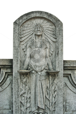 Indian Statue stock photo, An Indian Stone Statue from San Antonio by Kevin Tietz