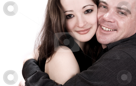 Loving her stock photo, Girlfriend and boyfriend hugging by Frenk and Danielle Kaufmann