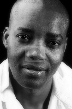 Black and white African male stock photo, Studio portrait of a Black and white African male by Frenk and Danielle Kaufmann