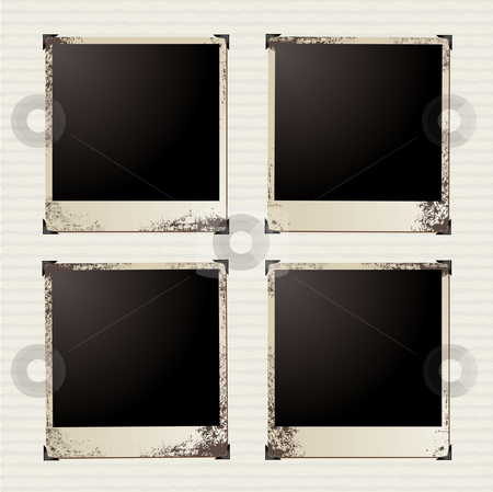 Picture foursome stock photo, Four image placeholders with room to add your own pictures by Michael Travers