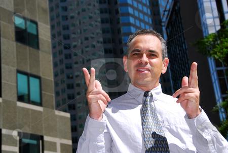 Businessman explain stock photo, Businessman explaining an idea in the city by Elena Elisseeva