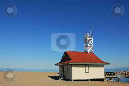 Beach stock photo, Lifegurad's house on a beach by Elena Elisseeva