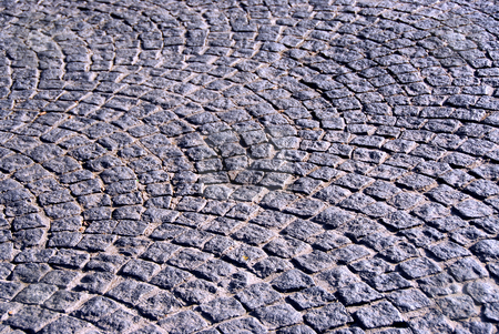 Cobblestone  stock photo, Background of old cobble stone granite pavement by Elena Elisseeva