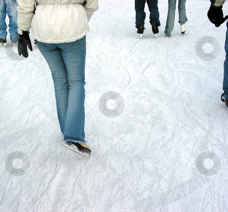 Skating stock photo, Ice skating on a city skating rink by Elena Elisseeva