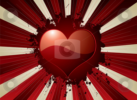 Valentine explode stock photo, Valentines day heart on an exploding heart background by Michael Travers