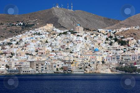 Hermoupolis, Syros Island stock photo, The capital of Cyclades islands, Hermoupolis, in Syros island by Georgios Alexandris