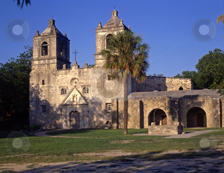 Mission Concepcion Texas stock photo, Mission Concepcion in San Antonio, Texas, part of the San Antonio Missiona National Historical Park. by Mike Norton