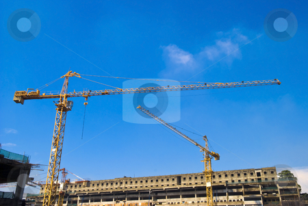 Construction stock photo, Construction building site with cranes by Stefan Breton