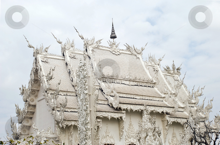 White Buddhist Temple stock photo, White Buddhist Temple in Chiang Rai, Thailand by Stefan Breton