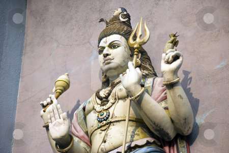 Shiva stock photo, A statue of the Hindu God Shiva in a Temple by Stefan Breton