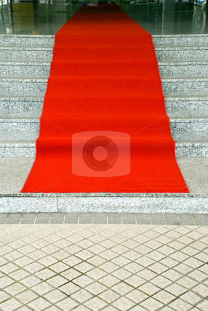 Red carpet stock photo, A red carpet ready for guests by Stefan Breton