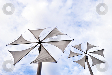 Wind Power stock photo, Alternative energy solutions thru nature and these wind turbines by Stefan Breton
