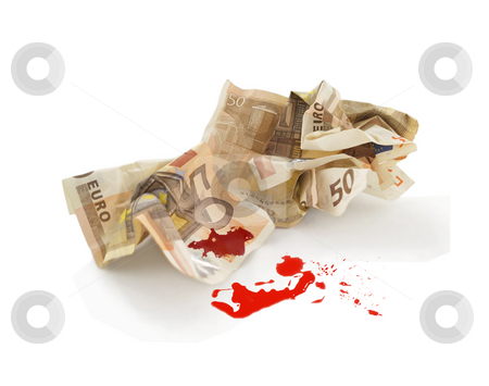 Bloody money stock photo,  by Adrian Costea