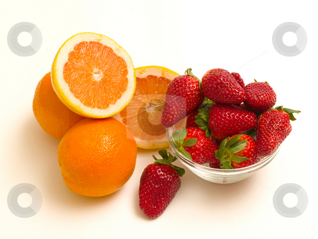 Oranges and strawberries stock photo,  by Adrian Costea